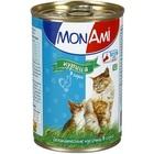 Mon Ami//Мон Ами консервы для кошек курица кусочки в соусе 415 г