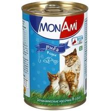 Mon Ami//Мон Ами консервы для кошек рыба кусочки в соусе 415 г
