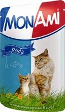 Mon Ami//Мон Ами консервы в фольге для кошек рыба 100 г