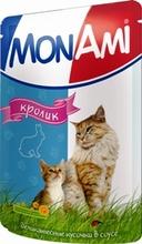 Mon Ami//Мон Ами консервы в фольге для кошек кролик 100 г