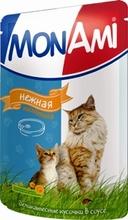 Mon Ami//Мон Ами консервы в фольге для кошек нежная телятина 100 г