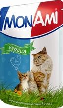 Mon Ami//Мон Ами консервы в фольге для кошек курица 100 г