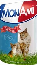Mon Ami//Мон Ами консервы в фольге для кошек говядина 100 г