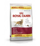 Royal Canin Fit 400+400 гр./Роял канин сухой корм для кошек бывающих на улице