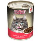 Зоогурман 350 гр.BIG CAT Мясное ассорти д/к