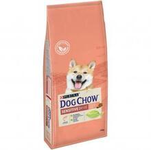 Dog Chow Sensitive 14 кг./Дог Чау сухой корм для чувствительных взрослых собак с лососем