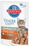 Hills Science Plan Sterilised Cat Young Adult 85 гр./Хиллс консервы для стерилизованных кошек до 6 лет с индейкой