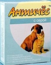 Античес с серой//противоаллергическое, противовоспалительное средство для кошек и собак 60 г