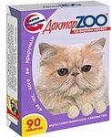 Доктор ЗОО//витамины для кошек со вкусом лосося 90 таб.