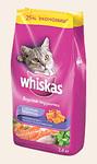 Whiskas 5 кг./Вискас сухой корм для кошек Вкусные подушечки с паштетом Морское ассорти с лососем, тунцом и креветками