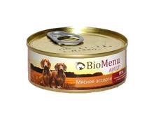 BioMenu ADULT100 гр./БиоМеню консервы для собак Мясное ассорти