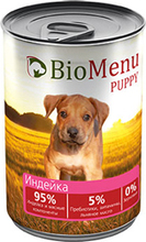 BioMenu PUPPY 410 гр./БиоМеню консервы для щенков с индейкой