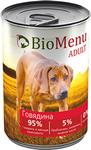 BioMenu ADULT410 гр./БиоМеню консервы для собак с Говядиной