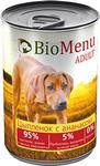 BioMenu ADULT410 гр./БиоМеню консервы для собак Цыпленок с Ананасом