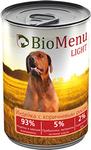BioMenu LIGHT 410 гр./БиоМеню консервы для собак с избыточным весом Индейка и Коричневый рис