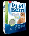 Pi-Pi-Bent Deluxe Fresh grass 5 кг./Наполнитель для кошек комкующийся