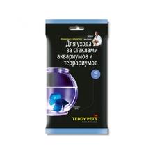Teddy Pets//влажные салфетки для ухода за стеклами аквариумов и террариумов 40 шт