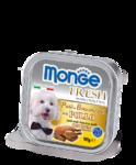 Monge Dog Fresh 100 гр./Монж консервы для собак Нежный паштет из курицы
