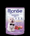 Monge Dog Grill  100 гр./Консервы для собак с кусочками свежайшего мяса говядины