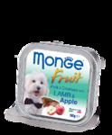 Monge Dog Fruit 100 гр.//Монж консервы для собак Нежный паштет из ягненка с яблоком