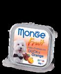 Monge Dog Fruit 100 гр.//Монж консервы для собак Нежный паштет из утки с апельсином
