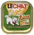 Lechat Pate Ricco//Лешат консервы для кошек с дичью идомашней птицей и рисом 100 г
