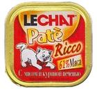 Lechat Pate Ricco//Лешат консервы для кошек с мясом и куриной печенью 100 г