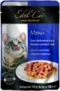 EdelKat 100 гр./Эдель Кет консервы в фольге для кошек лосось и форель