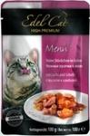EdelKat 100 гр./Эдель Кет консервы в фольге для кошек лосось и камбала