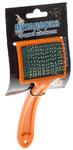 Зооник/Пуходерка пластмассовая  средняя с каплей средней жесткости на блистере 07237