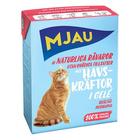 Mjau 380 гр./Мяу Консервы для кошек мясные кусочки в желе  с лангустом