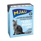 Mjau 380 гр./Мяу Консервы для кошек мясные кусочки в желе с арктическим лососем