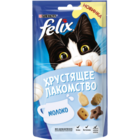 Felix 60 гр./Феликс Хрустящее Лакомство  для взрослых кошек с молоком