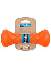 PitchDog Игровая гантель для апортировки, длина 19 см, диаметр 7 см, оранжевая (31004)