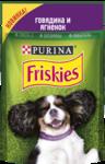 Friskies 85 гр./Консервы  для взрослых собак c говядиной с ягненком