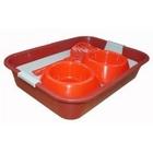 Сибирская кошка /Набор для Любимца. Туалет с сеткой, миска двойная, совок в термоусадочной пленке