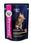 Eukanuba 85 гр./Еукануба консервы  для котят с курицей в соусе