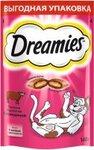 Dreamies 140 гр./Дримисиз лакомые подушечки для кошек с говядиной