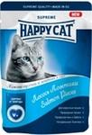 Happy Cat Хэппи Кэт//консервы в фольге для кошек кусочки в соусе лосось 100 г