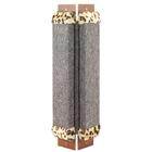 Лапки Царапки/Когтеточка угловая средняя с мехом ковровая и кошачьей мятой
