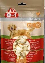 8in1 DELIGHT XS//косточки для собак мелких пород 7,5 см 21 шт.