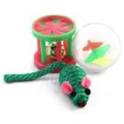 TRIOL /Набор игрушек для кошек мяч.мыш.барабан/XW7006/22181045/