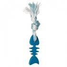 Triol/Игрушка  для собак  скелет рыбы с веревкой 105/200мм