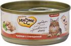 Мнямс 70 гр./Консервы для кошек Курица с  говядиной в желе