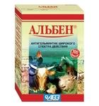 Альбен//антигельминтик для сельскохозяйственных животных 100 таб