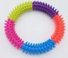 HOMEPET Игрушка для собак Кольцо с шипами разноцветное 15,3 см.