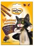 Мнямс Лакомые палочки для кошек Мясной карнавал 1шт.(уп.3) индейка, ягненок