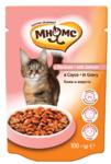 Мнямс 100 гр./Консервы Паучи с лосось в соусе для кошек