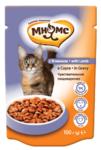 Мнямс 100 гр./Консервы Паучи с ягненок в соусе для кошек