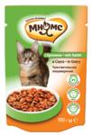 Мнямс 100 гр./Консервы Паучи с кроликом в соусе для кошек